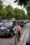 Taxibestuurders op staking Stock Afbeelding