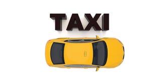 Taxibilöverkant ner sikt För taxiservice app, transportföretagsannons, infographics vektor illustrationer