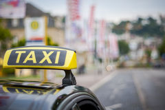 Taxibil Arkivfoto