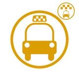 Taxibilsymbol Arkivbild
