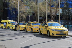 Taxicabine Melbourne Australië Royalty-vrije Stock Afbeelding