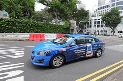 Taxicabine Singapore stock fotografie