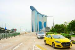 Taxicabines, Marina Bay, Singapore stock foto