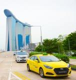 Taxicabines, Marina Bay, Singapore royalty-vrije stock afbeeldingen