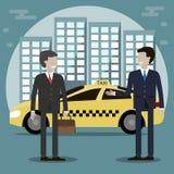 Taxichaufför Service royaltyfri illustrationer