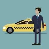 Taxichaufför Service vektor illustrationer