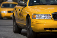 Taxies in Manhattan Stock Photo