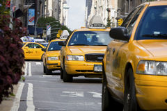 Taxies in Manhattan Royalty Free Stock Photo