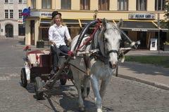 Taxifahrer in Riga Lizenzfreies Stockfoto