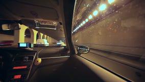 Taxifahrt um Barcelona stock video footage