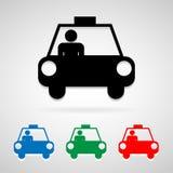 Taxiikonen stellten groß für jeden möglichen Gebrauch ein Vektor eps10 Stockbilder