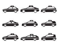 Taxiikonensatz stock abbildung