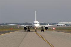Taxiing aircraft Stock Photo