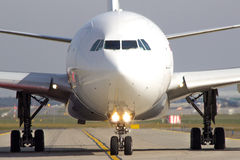 Taxiing aircraft Stock Photography