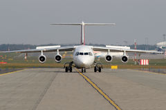Taxiing aircraft Royalty Free Stock Image