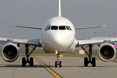 Taxiing aircraft Stock Images