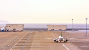 Taxiing airplane Stock Photo