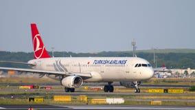 Taxiing de Airbus A321 video estoque