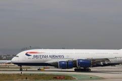 Taxiing de British Airways Airbus A380 Fotografia de Stock Royalty Free
