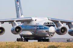 Taxiing do avião Foto de Stock