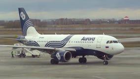 Taxiing do avião filme
