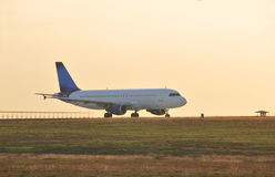 Taxiing Jetliner .... Commercial Passenger Aircraft travels down taxi way Stock Photography