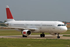 Taxiing after landing. Taxiing to the apron after landing Royalty Free Stock Photos