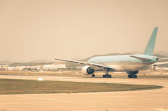 Taxiing for Takeoff Royalty Free Stock Images