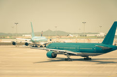 Taxiing for Takeoff Stock Photography