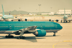 Taxiing for Takeoff Stock Images