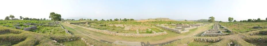 Taxila fördärvar panorama Royaltyfria Bilder
