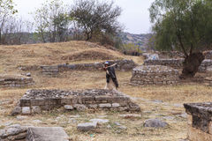 Taxila Heritage in Pakistan. This photo is taken in Taxila in Pakistan. From the ancient Neolithic tumulus of Saraikala to the ramparts of Sirkap 2nd century B.C Royalty Free Stock Images