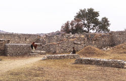 Taxila Heritage in Pakistan. This photo is taken in Taxila in Pakistan. From the ancient Neolithic tumulus of Saraikala to the ramparts of Sirkap 2nd century B.C Stock Photo