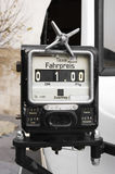 Taximeter. An old german analog taximeter Royalty Free Stock Images