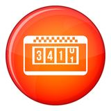 Taximeter icon, flat style Royalty Free Stock Image