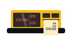 Taximeter icon in flat style transportation symbol driver public transport service sign and money coast measurement Stock Photography