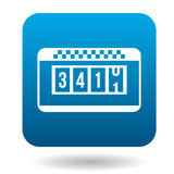 Taximeter icon in flat style Royalty Free Stock Images