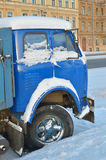 Taxin av lastbilen Arkivbilder