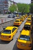 Taxiparken Stockfoto