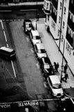 Taxiparking in Londen, Engeland Stock Foto