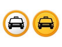 Taxipictogrammen Royalty-vrije Stock Afbeeldingen