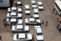 Taxirang i Rabat, Marocko Royaltyfri Fotografi