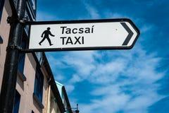 Taxiriktning Arkivbild