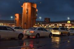 Taxis à l'aéroport Image stock