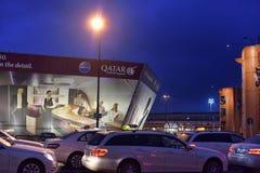 Taxis à l'aéroport Images libres de droits