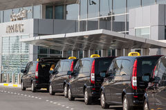 Taxis at the Abu Dhabi International Airport Stock Image