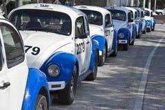 Taxis in Acapulco Stockbilder
