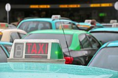 Taxis at the airport Stock Photos