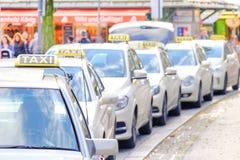 Taxis alemanes Fotografía de archivo libre de regalías