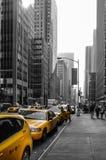 Taxis amarillos de New York City Fotos de archivo